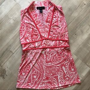 🦋5 for 25 Pink Paisley Floral Sleeveless Tank